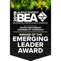 Emerging-Leader-Award-2019_Winner-Flag_South-Canterbury_Business-Excellence-Awards