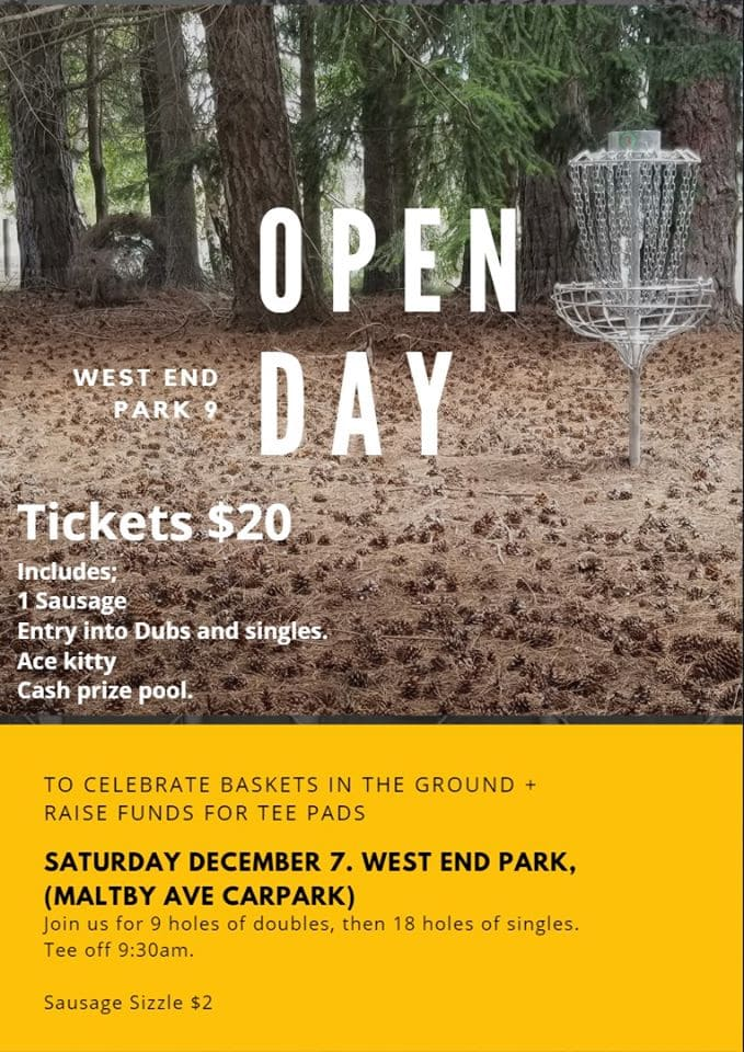 Golf disk open day west end park timaru